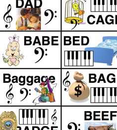 Words from Music Alphabet Freebie
