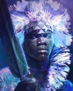 Featured artist: brahim_azizi #art #fantasy #afrofuturism #warrior #magic