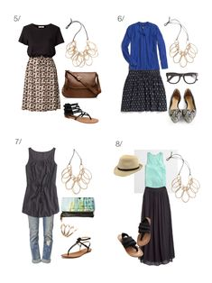 how to wear a statement necklace in summer: 8 outfit ideas to try // click for outfit details