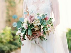 Romantic Bouquet Tied with French Silk | Brides.com