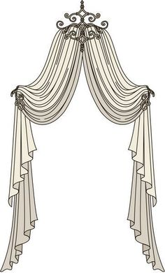 Window Treatments for Your Girl's Bedroom Curtains And Draperies, Hanging Curtains, Window Curtains, Valances, Window Swags, Elegant Curtains, Diy Curtains, Shower Curtains, Arched Window Treatments