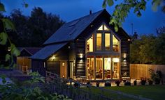 An oak-frame flat-pack house, now this is how to get your dream home... Just build one!
