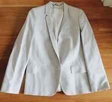 STELLA McCARTNEY Pale Gray Blue Single-Button Oversized Jacket Blazer Sz 40