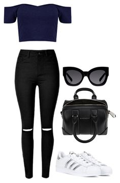 """""""Untitled #472"""" by maritzawaffles on Polyvore featuring adidas, Givenchy, Karen Walker, women's clothing, women, female, woman, misses and juniors"""