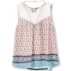 Speechless Big Girls' Pritned Chiffon Baby Doll Top Aqua Orange XL  Sleeveless baby doll top with a lace around the neckline and border print with necklace trim         Speechless Big Girls' Pritned Chiffon Baby Doll Top Aqua Orange XL Features     Sleeveless   Lace   Border print   Necklace   High low hem     The post  Speechless Big Girls' Pritned Chiffon Baby Doll Top Aqua Orange XL  appeared first on  SummerDelight.co .  http://summerdelight.co/speechless-big-girls-pritned-chif..