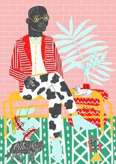 Juxtapoz Magazine - Bright Illustrations of Camilla Perkins Art Et Illustration, Illustrations, Inspiration Art, Art Moderne, Sign Printing, Art Design, Colorful Pictures, Camilla, Artwork