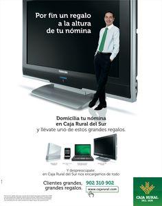 Campaña de publicidad para Caja Rural del Sur.