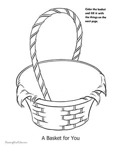 Free Printable Easter Basket Coloring Pages Are Fun Page