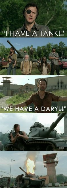 Rock, paper, scissors... Daryl beats your tank every. Single. Time. The Walking Dead