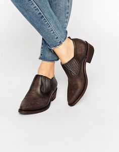 Invest is a good pair of boots and they'll last you a life time. Particularly if they're the almond toedFrye Billy Shootie Western Leather Shoe Boots!