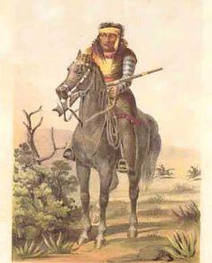 lipan apache   Lipan Apache on the trail, upper Rio Grande.