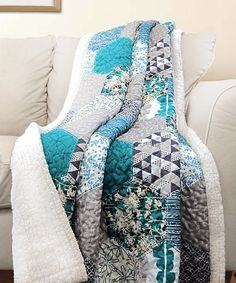 Look what I found on #zulily! Turquiose Briley Sherpa Throw by Lush Décor #zulilyfinds