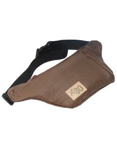 Travel Fanny Pack w/ iPhone Pocket and Key Ring. Brown color is faux leather finish. $10.