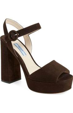b0b11bf57426 Main Image - Prada Block Heel Platform Sandal (Women) Block Heel Platform  Sandals