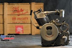 Ducati Cucciolo (Little Pup) was designed by the Turin based lawyer and writer Aldo Farinelli in 1943 after the Italian Armistice. Cucciolo in June 1946 Ducati, Motorcycle News, Bicycle Race, 50cc, Car Engine, Spark Plug, Fuel Economy, Race Cars, History