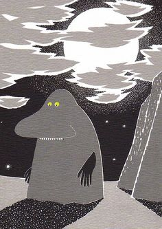 Groke by Tove Jansson .. This was the scariest thing in Moomin!