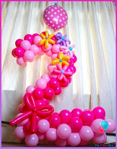 Number 2 balloons