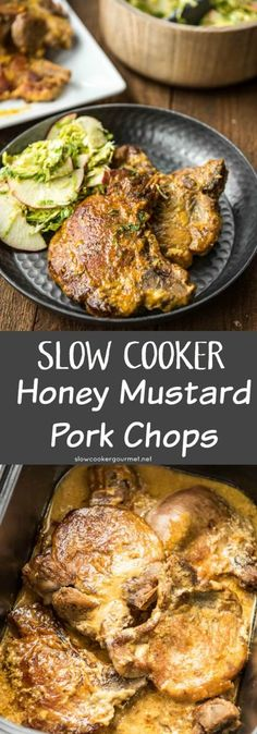 A delicious family meal even your pickiest eater will love! Slow Cooker Honey Mustard Pork Chops are quick and easy!