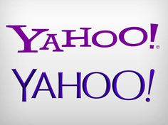 Logotipos antigo e novo do Yahoo