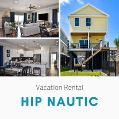 Hip Nautic is a five-bedroom, four-and-a-half bath home located 0.1 miles north of Garden City Pier in the second row beach house community, Retreat at Garden City Beach. The community is a quick one-minute walk from public beach access across the street on North Waccamaw Drive. Garden City Beach, Vacation Rentals, View Photos, The Row, Beach House, Two By Two, Public, Community, Bath