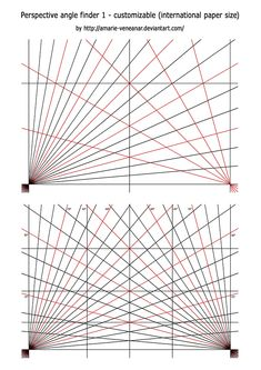 007 This perspective grid paper is formatted with two points