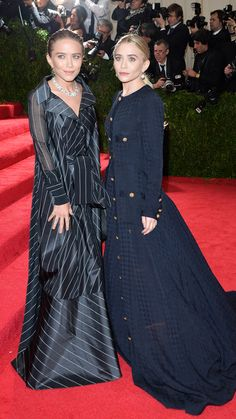 2014 Met Gala Red Carpet - Mary-Kate and Ashley Olsen from #InStyle