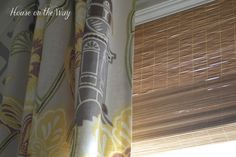 #DIY - #Make Bamboo #Shades from Dollar Store Place Mats for only $3!!
