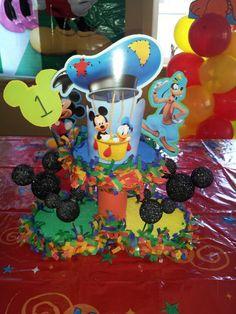 Mickey Mouse Club House DIY centerpiece