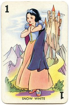 1938 Snow White Playing Card, via Flickr.