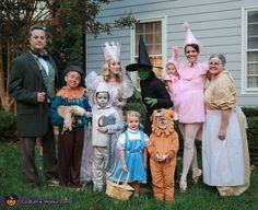 Angie: We love family themes for Halloween! With the new addition of our puppy to our family this year, we knew The Wizard of Oz would be perfect. :).