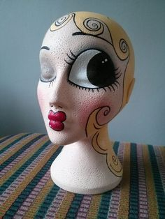 Hand Painted Vintage Inspired Mannequin Head Momo by LovefromMomo, £30.00: