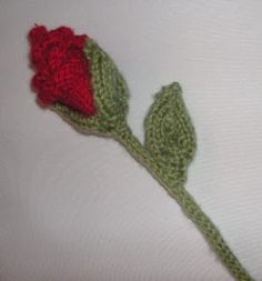 Knitting Galore: Knit A Valentine Rose