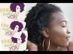 Natural Hair Extensions (Clip Ins) From Kinky Curly Yaki | mondylove - YouTube