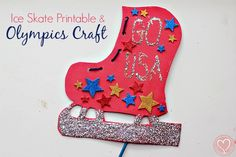 Olympics Ice Skate Craft with FREE Printable via @De Su Mama