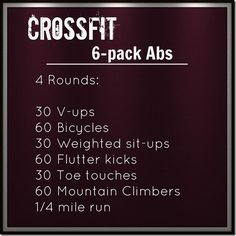 Crossfit Ab Workout-run farther tho...