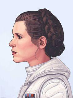 Princess Leia - Mike Mitchell