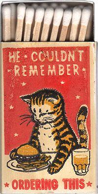 ideas funny illustration design art prints for 2019 Retro Poster, Vintage Posters, Drunk Cat, Vintage Illustration, Funny Illustration, Matchbox Art, Photo Chat, Vintage Cat, Illustrations