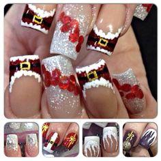 Nail art from the NAILS Magazine Nail Art Gallery, acrylic, Christmas Nail Polish, Holiday Nail Art, Xmas Nails, New Year's Nails, Great Nails, Diy Nails, Manicure, Short Nail Designs, Nail Art Designs