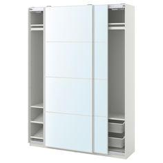 Ikea Pax, White Mirror, Mirror Glass, Pax Planer, Powder Coating Wheels, Tall Cabinet Storage, Locker Storage, Armoire Pax, Powder Coating
