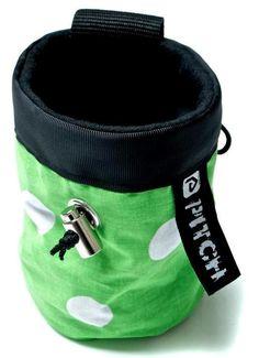 Spotty chalk bag (pitchclimbing.com)