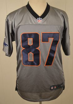 Authentic Nike Denver Broncos Jersey  87 Eric Decker NFL Size 40 Silver   Nike   1a9976f9b