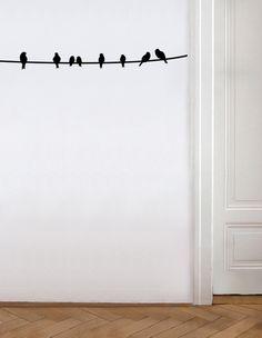 Wandtattoo Wandsticker / Vögel von EULENSCHNITT HAMBURG auf DaWanda.com
