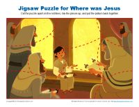 Where Was Jesus Jigsaw Puzzle