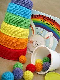 Gioco incastro arcobaleno per bambini a uncinetto - Istruzioni