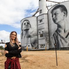Russian street artist makes her mark on silo art trail - Kunst: Art : Street Art - Murals Street Art, Street Art Graffiti, Amazing Street Art, Amazing Art, Banksy, Art Du Monde, Building Art, Arte Popular, Australian Artists