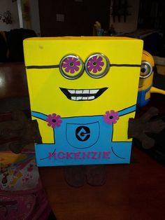 My daughter wanted a minion box for her valentines