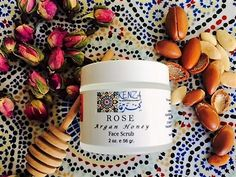 Rose Argan Honey Face Scrub  #rose #arganoil #honey #facescrub #greenbeauty