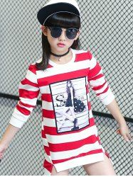 SHARE & Get it FREE | Girl Print High-Low Hem Long Striped T-ShirtFor Fashion Lovers only:80,000+ Items • New Arrivals Daily • Affordable Casual to Chic for Every Occasion Join Sammydress: Get YOUR $50 NOW!