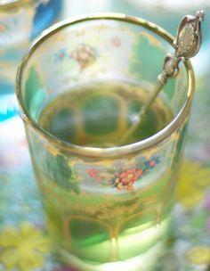 hot tea in a glass