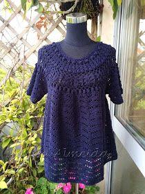 Marisa Tricot Crochet e Acessórios: Blusa Crochet Pala Rococó